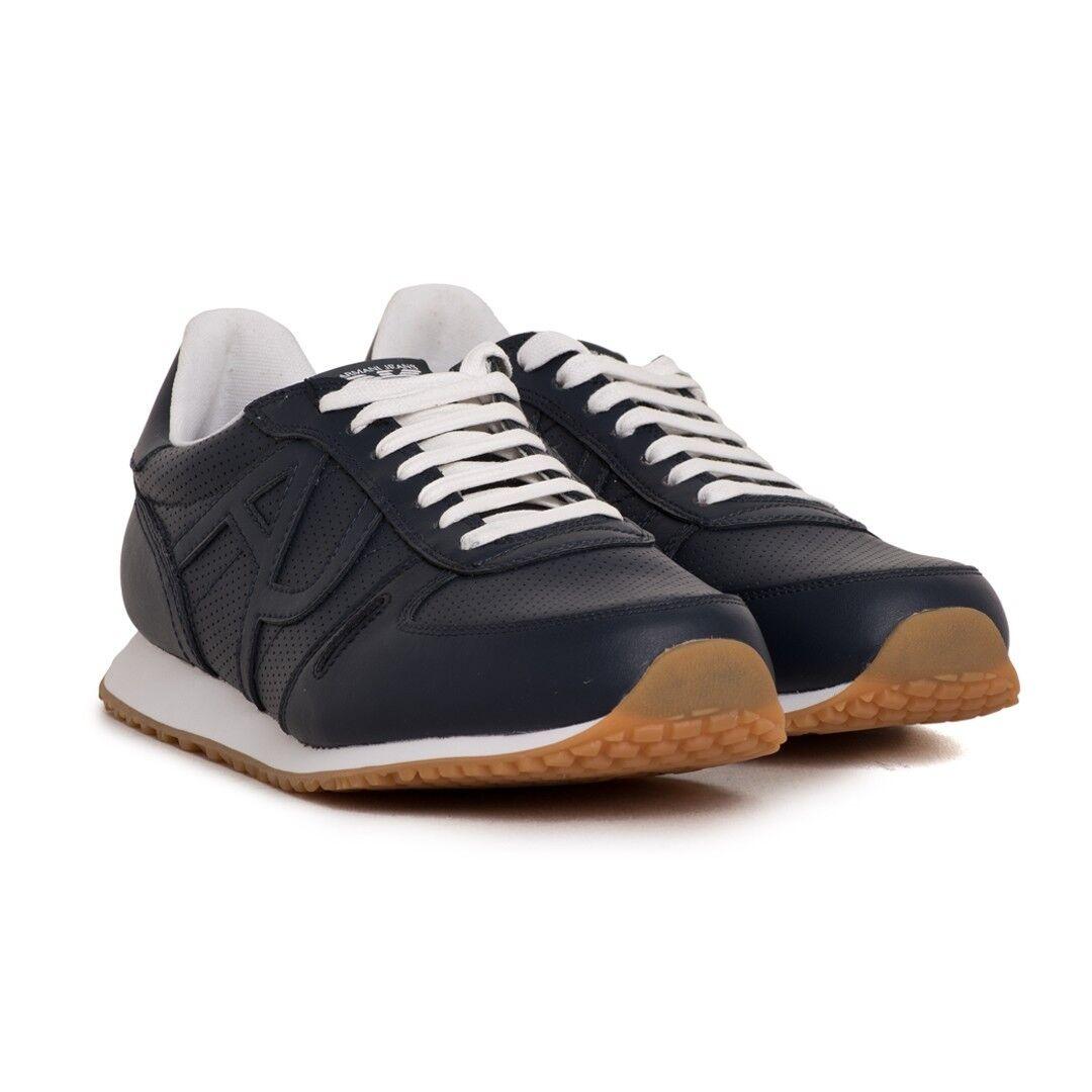 ARMANI-JEANS Herren Schuhe Sneaker Niedrig Cut Blau 41- 44