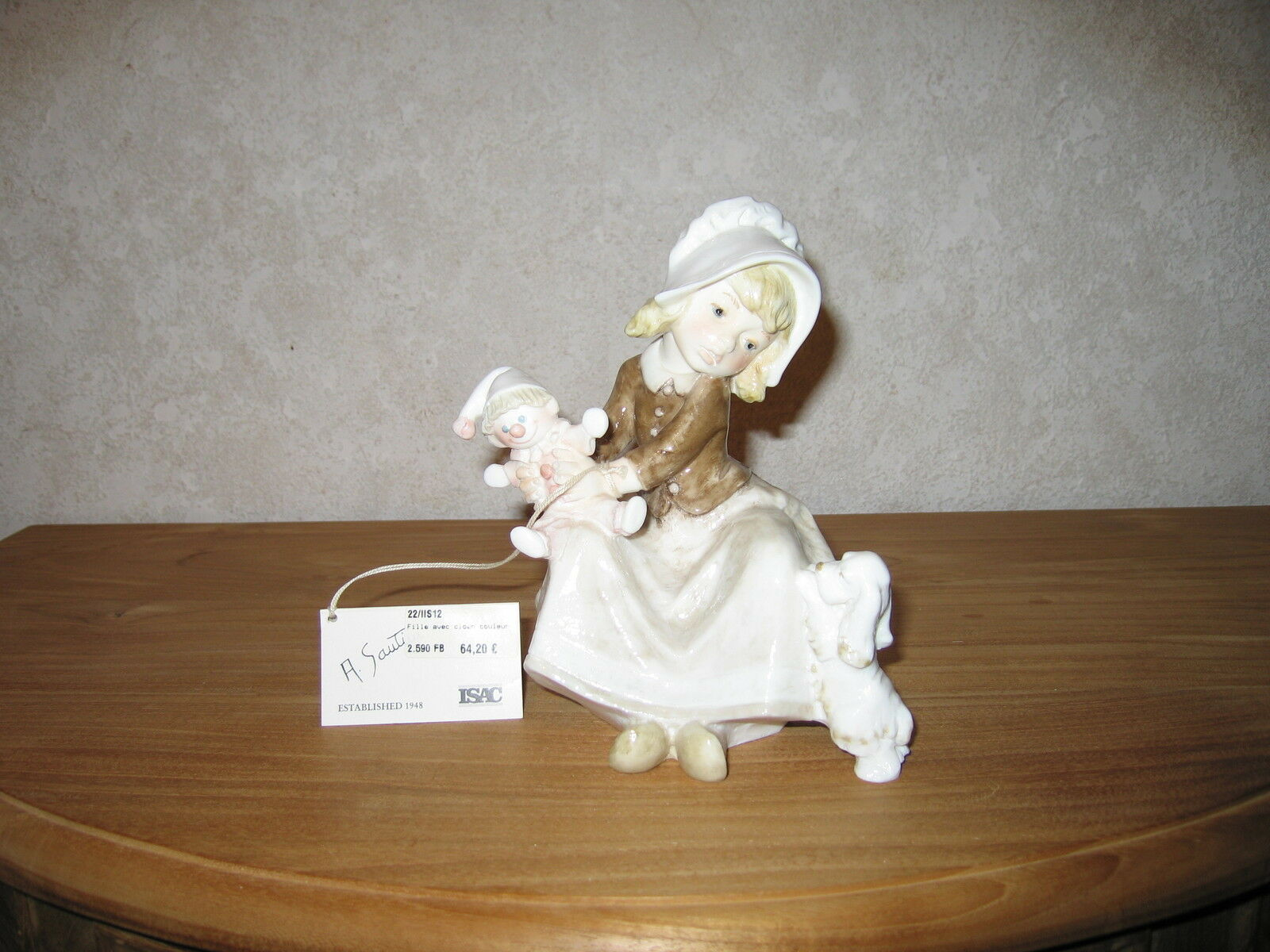 ISAC ITALY NEW Posture Fille avec clown 17cm