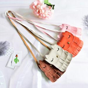 Fashion-Cartoon-Cat-Print-Tassel-Purse-Handbag-Shoulder-Bag-Cross-Body-Gift