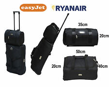 2 Piece Ryan Air / Easy Jet Cabin Approved Holdall On Wheels  & Travel Bag.