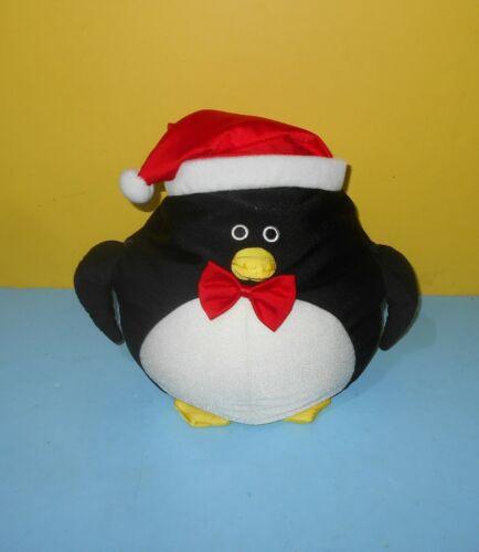 Christmas Moshi PENGUIN Microbead Pillow Squishy Plush Red Santa Hat /& Bow Tie