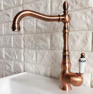 Antique Red Copper Bathroom Faucet