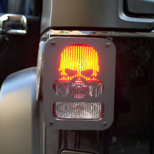Tail-Light-Cover-Trim-Guard-Protector-For-Jeep-Wrangler-2007-2017-Custom-Skull