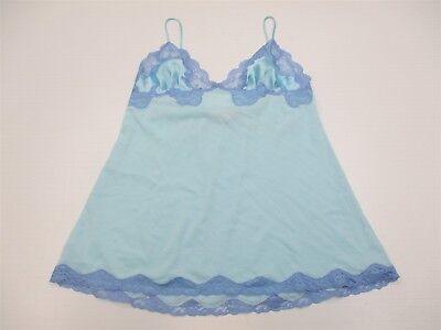 Teddies Intimates & Sleep Painstaking Vs Victoria's Secret Nightgown Women's Size S Lace Trim Blue Mesh Chemise Br2059