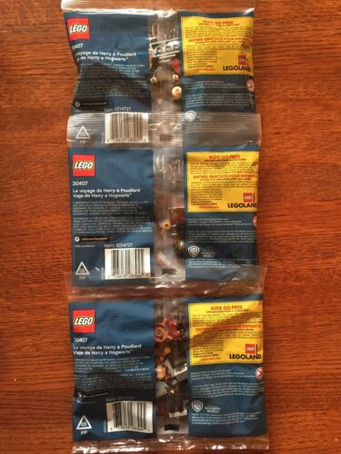 LEGO HARRY POTTER #30407 POLYBAGS x3 HARRY/'S JOURNEY TO HOGWARTS NIP