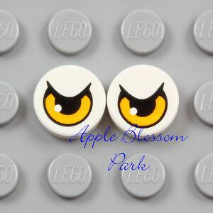 NEW Lego 2 Eagle EYE TILES 1x1 White Chima Bird Minifig Pair Animal Eyes - 70124