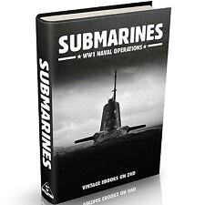 Submarines 55 Books on DVD Submarine WW1 Naval Operations Great War Navy History