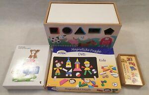 Wooden-Toy-Bundle-Magnetic-Board-Stacking-Game-Dominoes-Storage-Box-Blocks