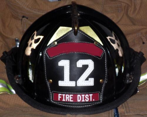 /</<REFLECTIVE/>/> Black Helmet Skull for all Helmet Types Firefighter Rescue /& More