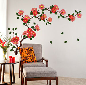 5700080 Wall Stickers Floral Branch Living Room Background