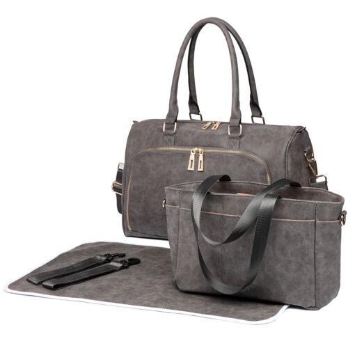 Nappy Diaper Maternity Baby Yummy Mummy Changing Bag Set Handbag
