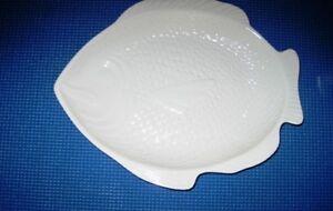 Vintage Whittier Pottery Of California White Fish Platter Pre Owned Fs Ebay