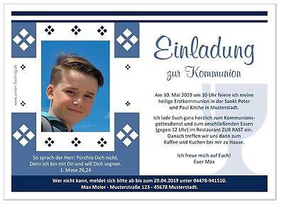 Für einladungskarten erstkommunion text Kommunion Einladungen