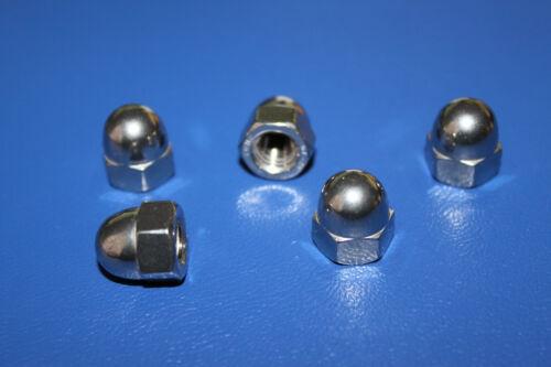 Hutmuttern DIN 1587  M3-M4-M5-M6-M8-M10-M12 V2A Muttern hohe Form A2