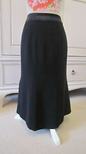 Knee Nwt Career Work Length A Bennett Line Gonna 10 Fitted Fit Flare 12 Crepe Lk q1t64W