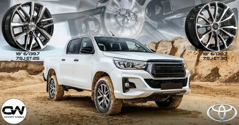 CONCEPT WHEELS NEW 18 TOYOTA HILUX BAKKIE AND FORTUNER RIMS AVAILABLE