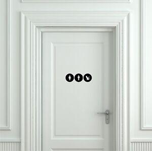 Funny cat toilet sign door sticker door decal bathroom for Cat bathroom door