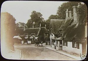 Glass-Magic-Lantern-Slide-SHANKLIN-CRAB-INN-DATED-1892-ISLE-OF-WIGHT-PHOTO-IOW