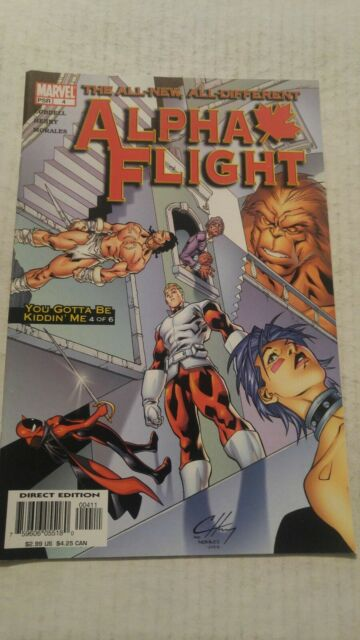 Alpha Flight #4 August 2004 Marvel Comics Lobdell Henry Morales