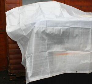 leichte Abdeckplane 0,60 €/m² Gewebeplane  Schutzplane Mehrzweckplane weiß