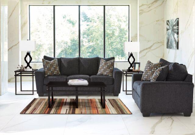 Amazing Ashley Furniture Wixon Slate Sofa And Loveseat 5700238 Machost Co Dining Chair Design Ideas Machostcouk
