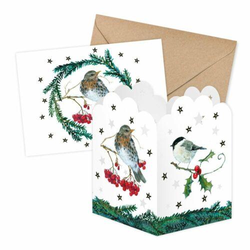 DANIELA DRESCHER*Weihnachten*Transparentleuchte//Lichterpost/&Karte*Winterwald*