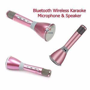 Wireless Karaoke K068 Player Microphone Bluetooth Speaker Mic Mini Magic Pink
