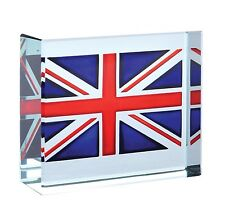 Spaceform Glass Token Union Jack Flag Paperweight Xmas Christmas Gift Box 1472
