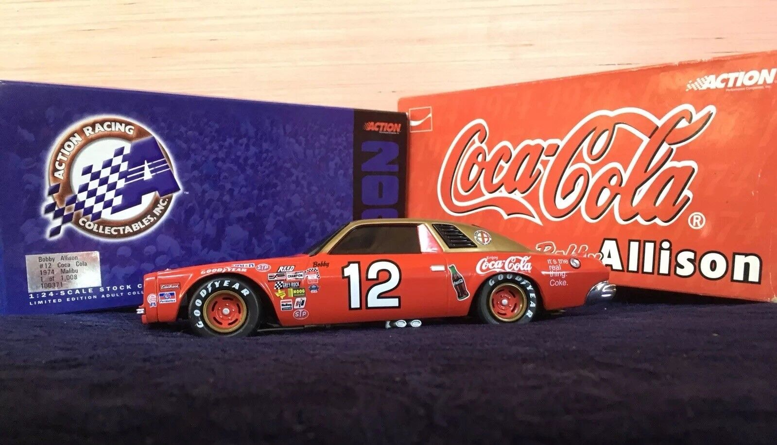 Bobby Allison Coca Coca Coca Cola 1974 Malibu BANK 1 24 759a0d