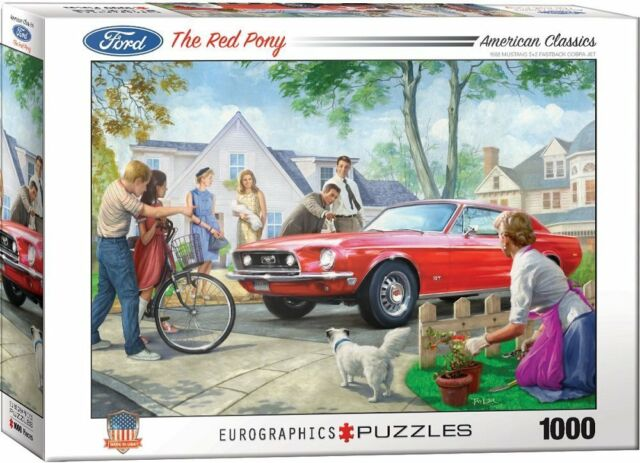 Ford Mustang The Red Pony 1000 Pezzi Puzzle 489mm x 677mm (Pz)