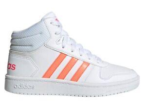 Adidas-HOOPS-MID-2-0-K-EE6708-Bianco-Scarpe-Donna-Bambina-Sneakers-Ginnastica