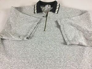 Wear-With-Polo-Shirt-VTG-Mens-XL-Tall-Long-1-4-Zip-Heavy-Cotton-USA-Made-Casual