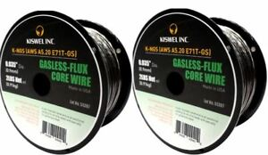 Made-in-USA-2-Rolls-K-NGS-E71T-GS-035-in-Dia-2lb-Gasless-Flux-Core-Wire