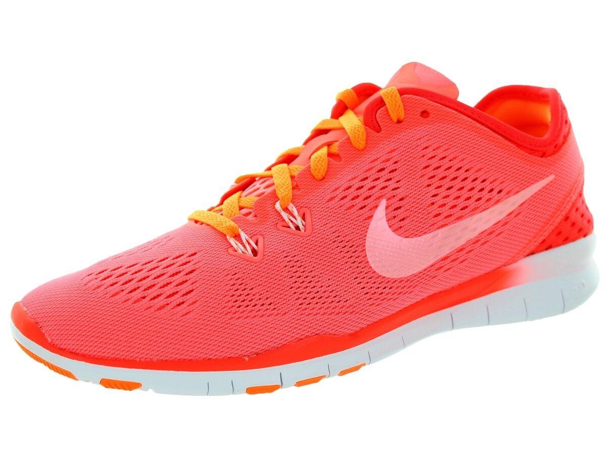 NEW Womens NIKE FREE TR FIT 5 sz 10.5 GLOW LAVA CRIMSON Running shoes Sneaker