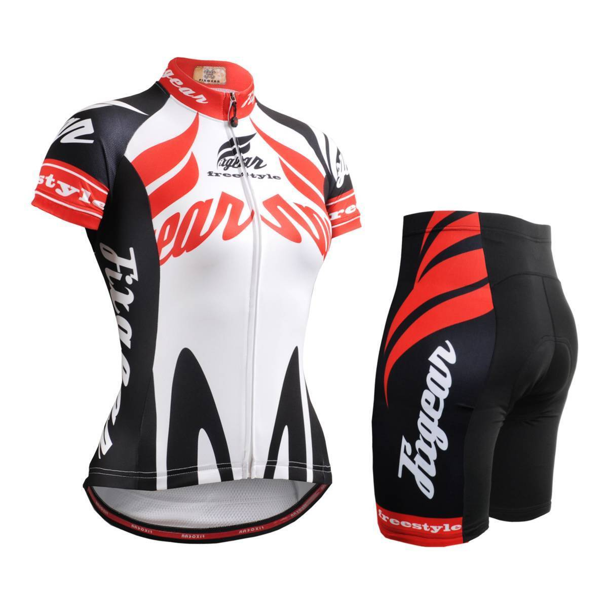 FIXGEAR CS-W1202-SET Womannen's Cycling Jersey ^ Padded korts MTB BMX Roadbike
