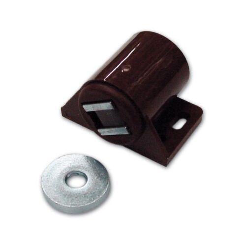100 Pz Ferma Ante Magnetico Tondo colore Marrone forza Kg.6 conf