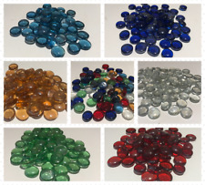 Decorative Glass Pebbles Stones Gems Flat Nuggets Marbles Wedding COLOURS&QTYS