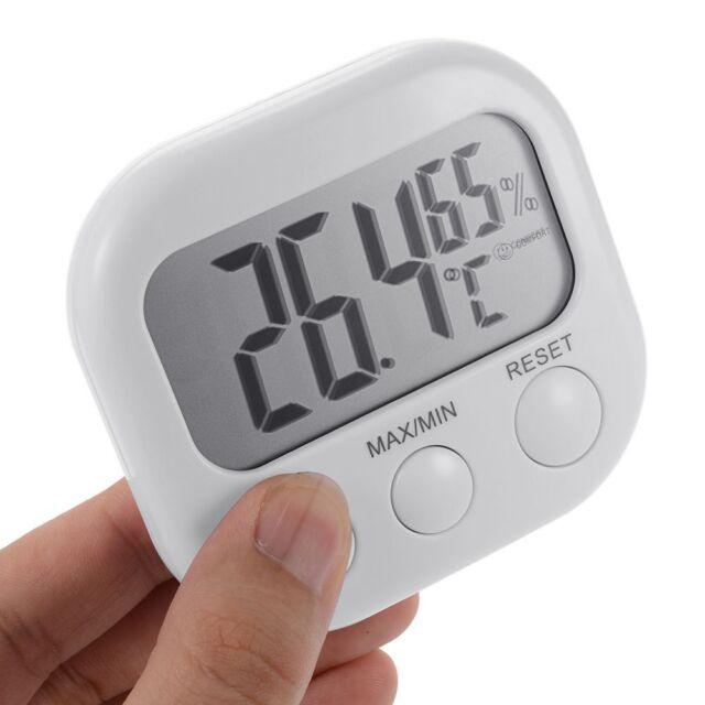 Portable LCD Digital Thermometer Hygrometer Temperature Humidity Meter Clock