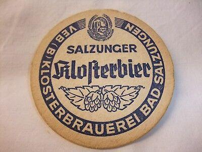 Ddr Werbung Reklame Bier Bierdeckel Bierfilz Veb Klosterbrauerei Bad Salzungen Weder Zu Hart Noch Zu Weich