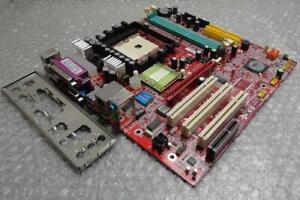 Original-Authentique-MSI-MS-6741-Version-1-DDR2-LGA-754-PCI-Mere-avec-Plaque