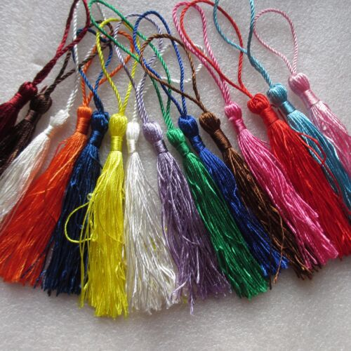 8cms 20 Large Silky Tassels 23 Colours; or 20-100 Mixed Cushion//Craft//Frills
