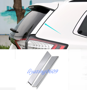 2PCS ABS Chrome Rear Window Sill Cover Trim For Ford Edge 2015-2018