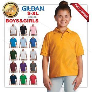 23a0243c2 Image is loading Gildan-DryBlend-Youth-Jersey-Polo-Sport-Shirt-8800B-
