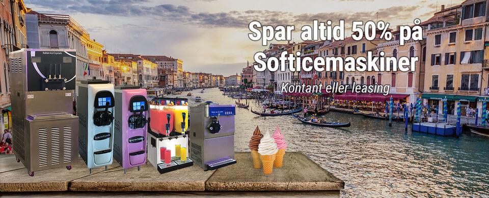 Fabriksnye Softicemaskiner spar 50% - Stort udv...