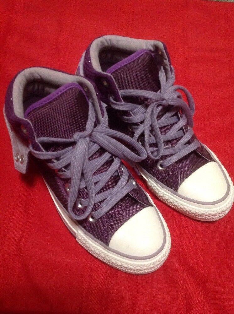 Converse Purple High 5 Top Sneaker Schuhes Größe 5 High a6a5bf