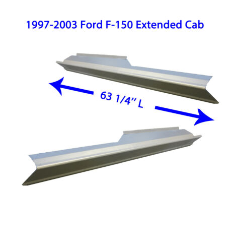 1999-03 Ford F-150 Ext Fast Shipping Cab Outer Rocker Panels New Pair
