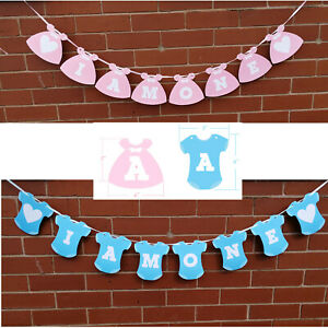 I-AM-ONE-1st-Birthday-Banner-Boy-Girl-Baby-Shower-Baby-Party-Bunting-Garland