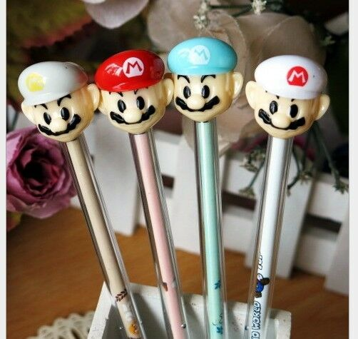 2 x Cute Super Mario Bros Stamp Party Cute Kids novelty stationery gift Kawaii