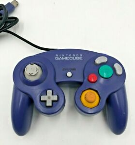 Original-Nintendo-Gamecube-Purple-Wired-Controller-DOL-003-OEM-Read