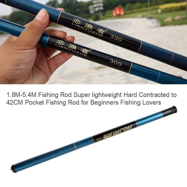 Carbon Fiber Ultralight Travel Telescopic Fishing Rod Pole Spinning Portabl L9H1